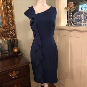 🔥Gorgeous Calvin Klein ruffle sheath dress!🔥